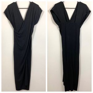 See by Chloe Draped Jersey V-Neck Midi Dress